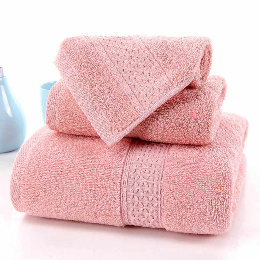 Geometryczne ręczniki zestaw miękka bawełna twarz ręczniki pod prysznic duża łazienka domowe spa dla dorosłych toalha de banho 12 kolory 3 rozmiary