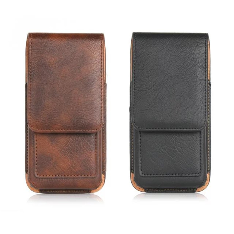 New Top grade Universal belt Slot Holster Skin Waist hanging Belt Clip Leather Pouch Cover Case For Oppo R9