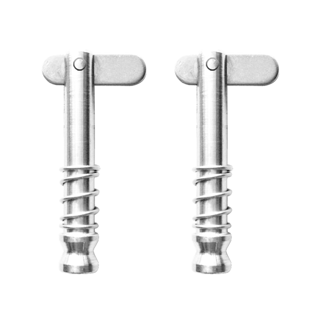 2 Pieces Quick Release Pins Silver Marine Hardware 316 Stainless Steel For Boat Top Deck Hinge 43mm