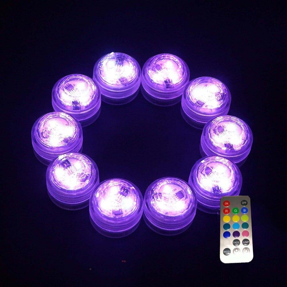 12PCS nedsänkbara vattentäta LED Mini Lights för kinesiska Round - Festlig belysning - Foto 5