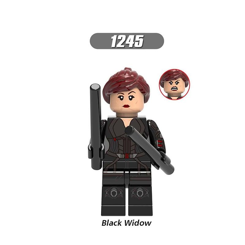 Single Sale LegoINGlys Super Heroes Avengers 4 Figures Endgame Black Widow Hawkeye Pepper Bricks Building Blocks Toys Boys Gifts