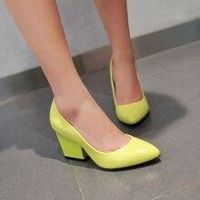 Frauen leder med heels 2016 Neue Hohe Qualität Schuhe Classic Black & White Pumpt Schuhe für Büro Damen Schuhe Zapato Mujer