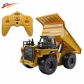 2.4G RC Truck  Alloy 6 Channel Remote Control Mine Dump Truck  4 Wheel Realistic  Machine Durable Multi-function Gift for Kids