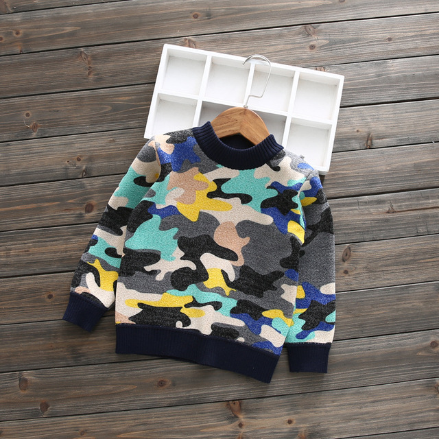 2017 new spring autumn kids childrens camouflage print hoody