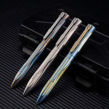 Titanium Tactical Pen Tungsten Steel Girl Self-defense Supplies Defense Tool EDC