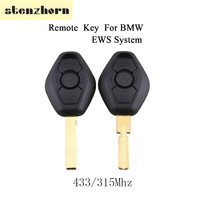 Stenzhorn 433/315 Mhz Smart Remote Chiave Dell'automobile Per BMW EWS 1/3/5/7 Series per BMW 318 330 325 530 525 540 E38 E46 E39 HU58/Lama HU92