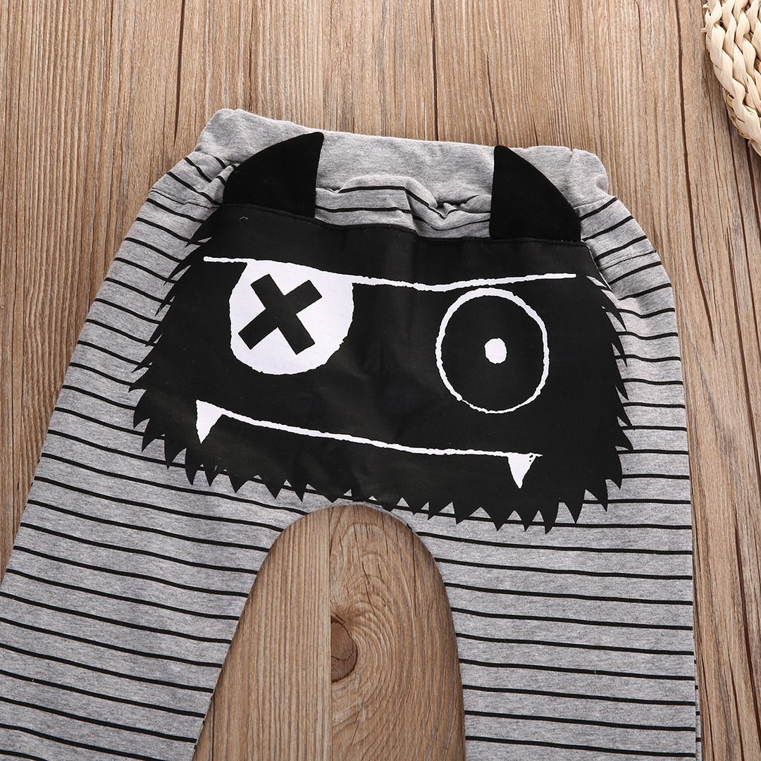 Cute Kids Baby Boys Girls Bottoms Monster Harem Pants pantaloni Casual Baby Boy Pants 0-2Y