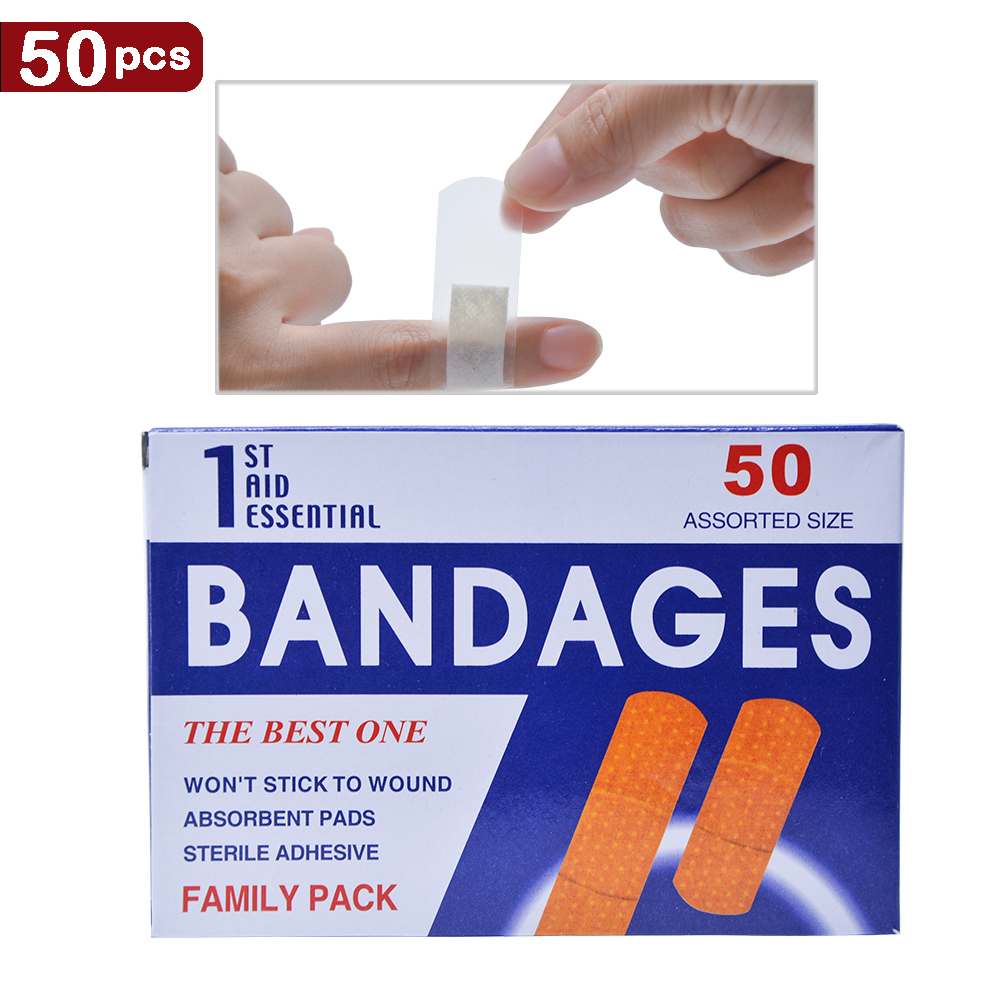 50pcs 2018 Neweast bandages Waterproof Breathable Band Aid Hemostasis Adhesive Bandages Medical Plaster Curative Plaster G08011 цена и фото