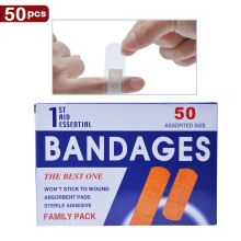50pcs 2019Neweast bandages Waterproof Breathable Band Aid Hemostasis Adhesive Bandages Medical Patch Curative