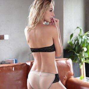 Image 5 - YANDW Delle Donne Reggiseno di pizzo bralette ricamo floreale senza spalline del reggiseno set sexy lingerie mutandine 1/2 tazza croped A B C D 70 75 80 85