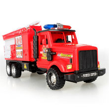 Large Cartoon Fire Truck Car Toy Kids Inertial Car Classic Tank Rescue Model Toys Simulation Cars For Children Birthday Gifts(China)