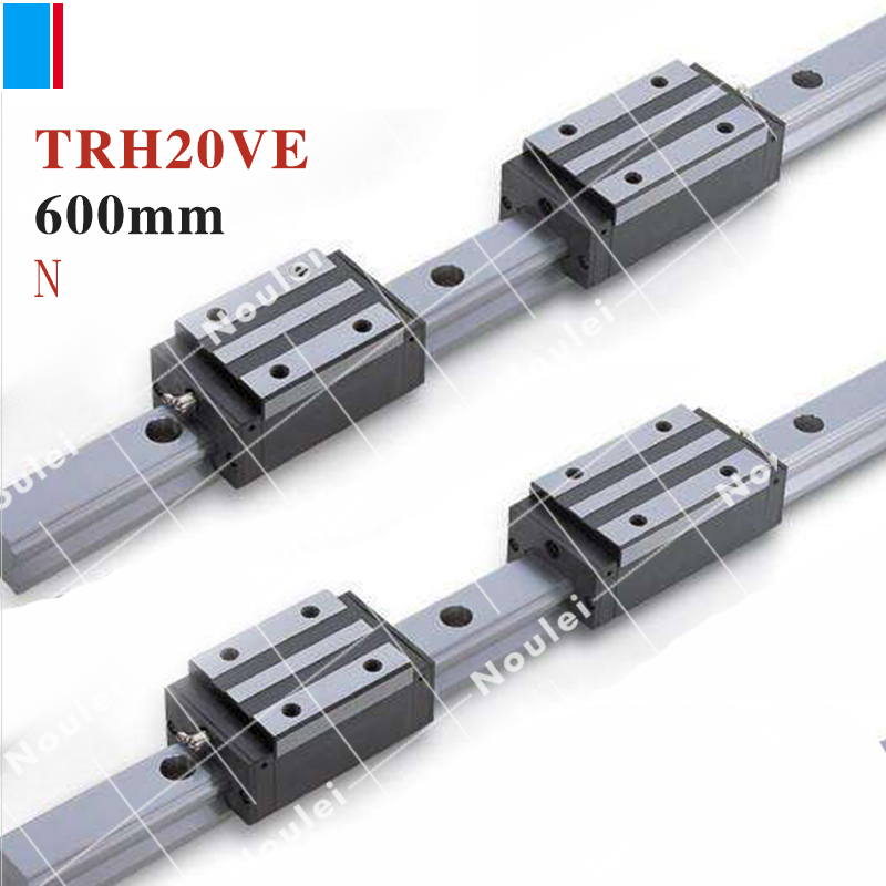 TBI TR20N 600mm linear guide rail with TRH20VE slide blocks stainless steel TBIMOTION CNC sets X Y Z Axis High efficiency tbi cnc sets tbimotion tr20n 600mm linear guide rail with trh20fl slide blocks stainless steel high efficiency