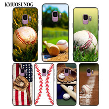 For Samsung Galaxy Note 9 8 S9 S8 Plus S7 S6 Edge S5 Mini Black Soft Silicone Phone Case Love Baseball Sport Style
