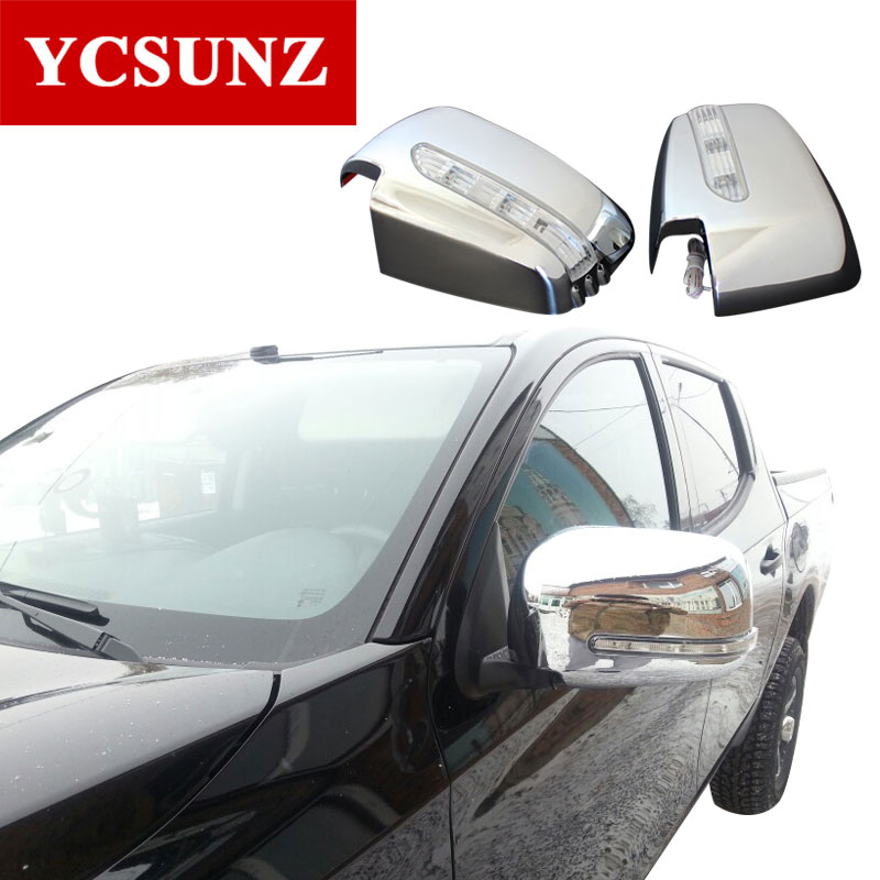 2006-2014 Chrome Mirror Cover For Mitsubishi L200 Triton indicator lights Mirror Cover For Mitsubishi l200 Accessories Ycsunz ветровики prestige mitsubishi l200 triton strada 99 06