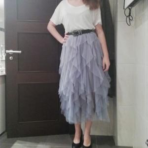 Image 5 - TIGENA Fashion Tutu spódnica z tiulu damska długa, maksi spódnica 2020 koreański śliczne różowe wysokiej talii plisowana spódnica kobieta szkoła słońce spodnica