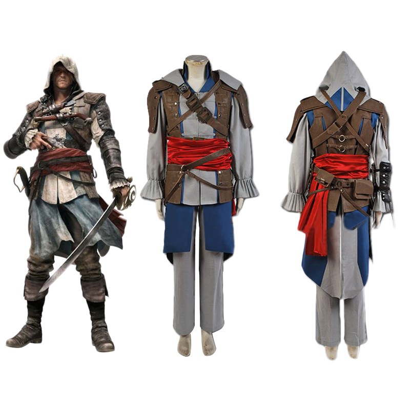 Flag Edward Kenway Cosplay Costume Halloween Carnival Costume For Adult Men Women