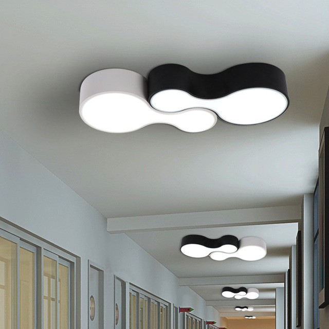 lustre led ceiling light Plafonnier led Moderne Black White
