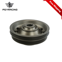 Free Shipping Racing Light Weight Aluminum Crankshaft Pulley OEM Size 92 95 For Civic SOHC D16 PQY CP009