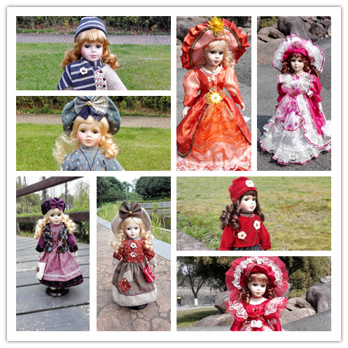 Retro style art antique ornaments gift Russian porcelain doll Birthday Children Kids Gifts Home Furnishing home decoration