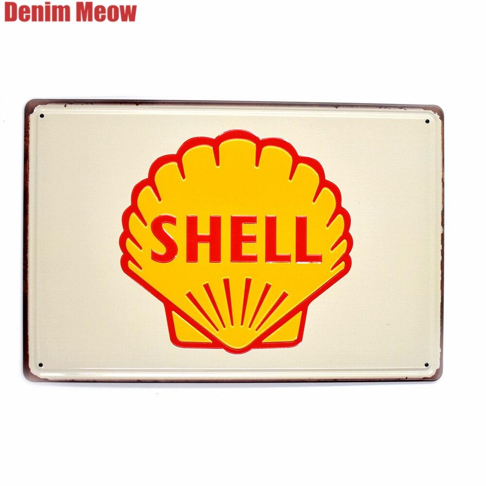 Metal Tin Sign shell motor oils Bar Pub Home Vintage Retro Poster Cafe ART