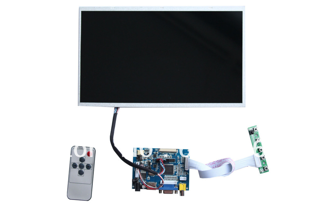 HDMI+VGA+2AV TFT  LCD controller board +B116XW02 V0 +LVDS cable+OSD keypad with cable +Remote control with receiver hdmi vga 2av lcd controller board with 7inch n070icg ld1 39pin reversal1280x800 ips touch lcd