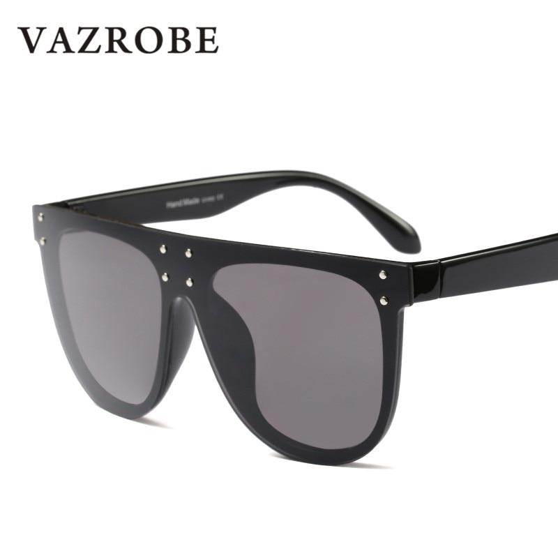 b34e51ac40 Vazrobe Oversized Sunglasses Women Big kim kardashian Sun Glasses for Female  Fashion Designer Black star 80s 2018 punk leopard-in Sunglasses from Women s  ...