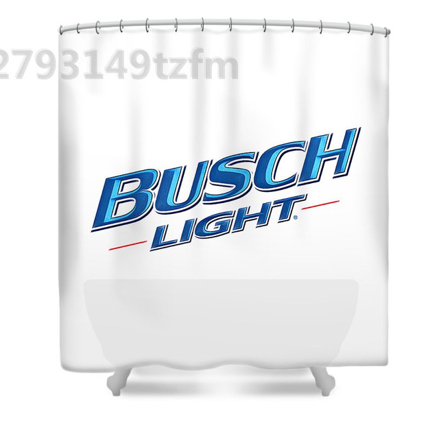 Waterproof Shower Curtains Busch Beer Curtain Print Polyester Fabric Bathroom With 12 Hooks