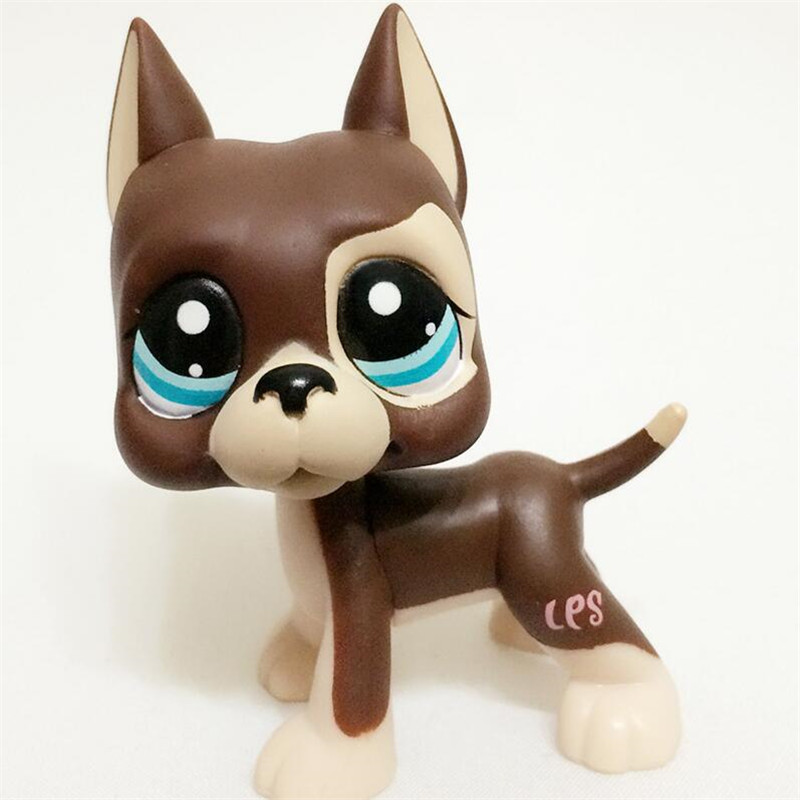 Lps pet shop lps toys Dog #817 Brown Great Dane with star eyes цена