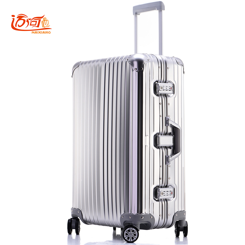 100% fully Aluminum-magnesium alloy aluminum travel suitcase 20/25 inch trolley luggage koffer fashion rolling luggage 20 25 29 aluminum magnesium alloy metal luggage fashion spinner rolling suitcase business aluminum frame luggage