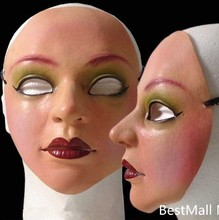 Ex Machina sister mask Female latex silicone realistic human skin masks Halloween dance masquerade cosplay new Pary