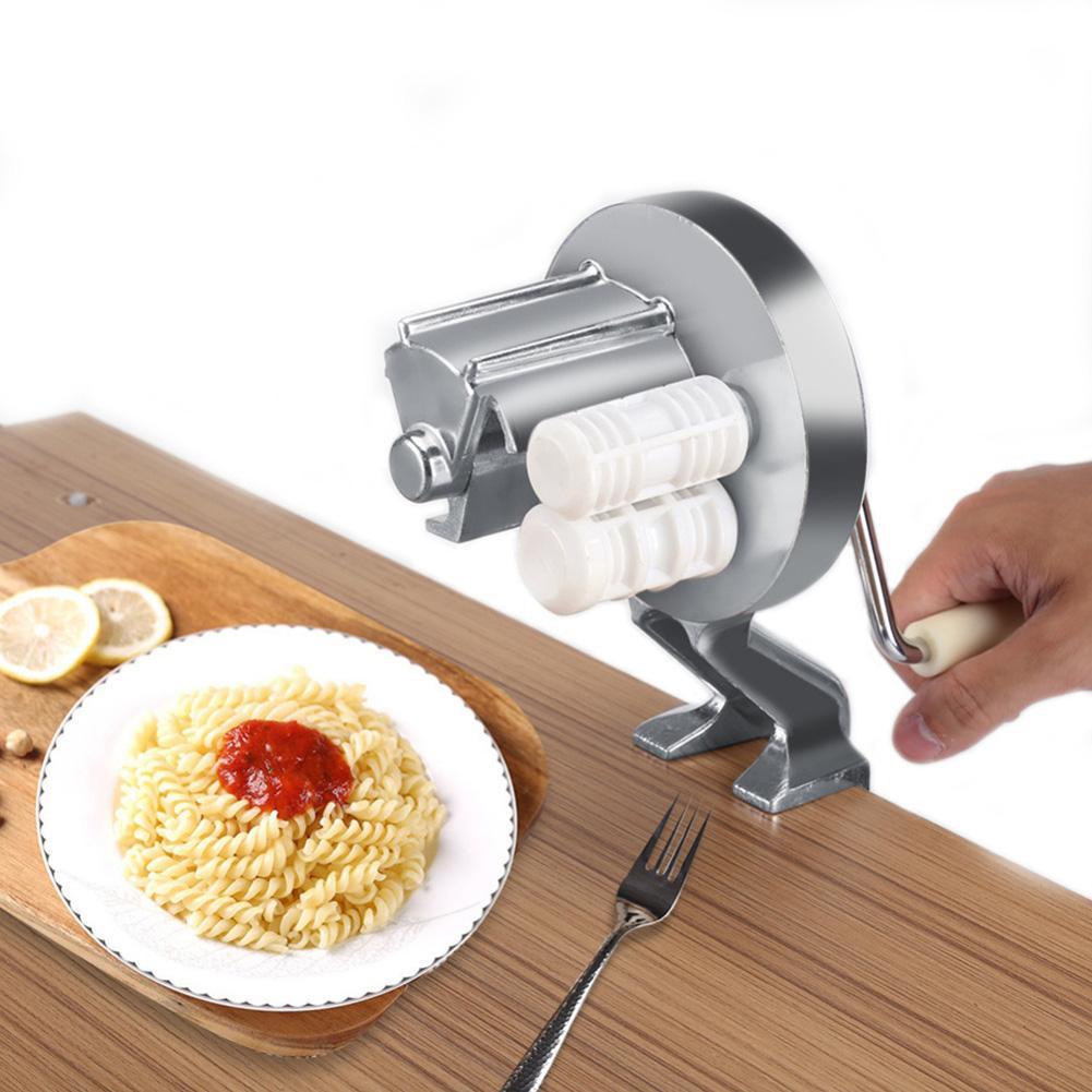 Liga de alumínio novo fabricante de macarrão máquina rolo doméstico tipo split manivela mão macarrão cortador para espaguete fettuccine