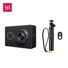 Yi 1080 P Câmera de Ação Com Kit Bluetooth Selfie Vara Preto Esporte Mini Câmera
