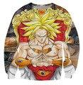 Men Women Long Sleeve Outerwear Classic Anime Dragon Ball Z Broli Sweatshirts Hipster 3D Sweatshirt Crewneck Pullovers