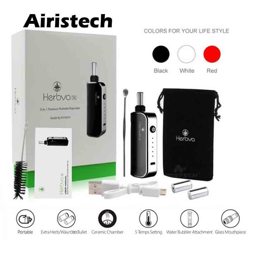 Airistech 3 in 1 Herbval X herbal vaporizer dry herb CBD wax vaporizadores e cigs vs ECO witcher dry herb vaporizer ceramic 3in1 цена