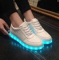 NUEVOS Hombres de la Moda adulto Zapatos Luminosos Led 2017 Luces LED de carga USB Colorido de Calidad Superior Zapatos de Los Amantes Ocasionales del Flash