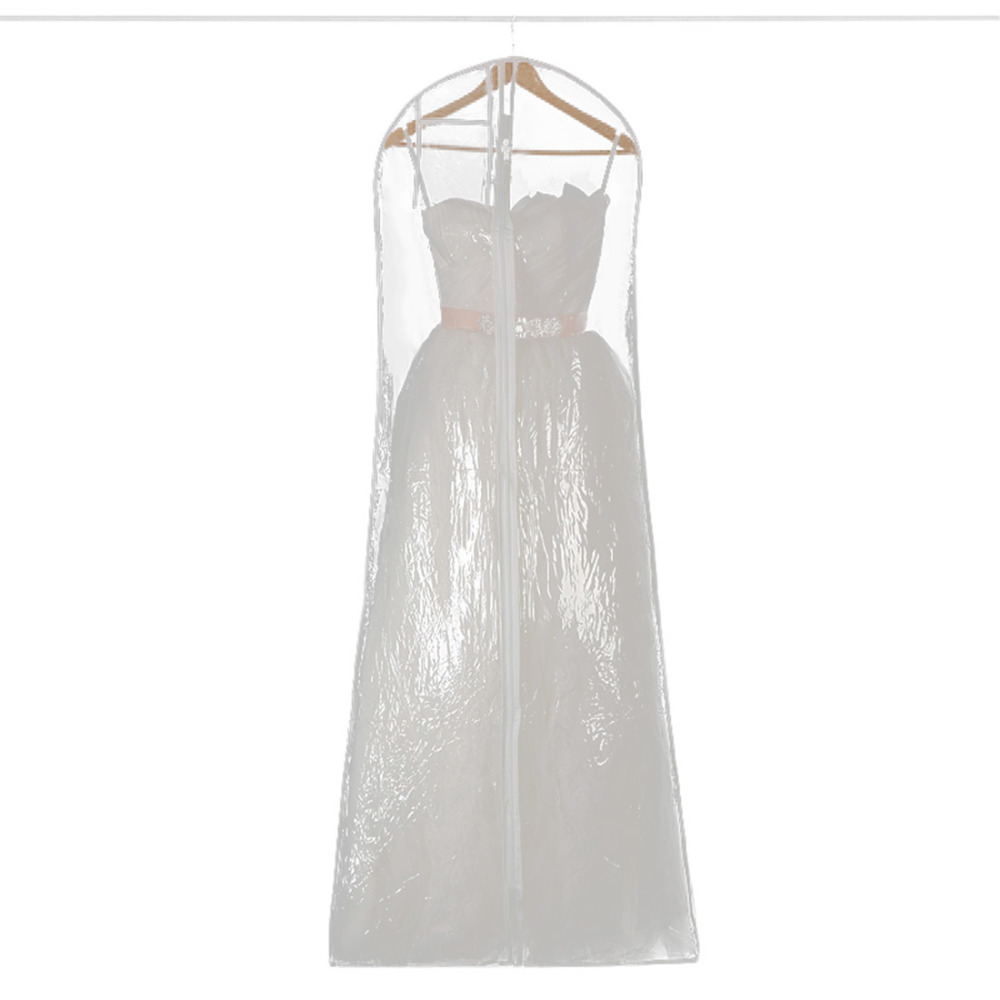 Wedding Gown Preservation Bag: Transparent Wedding Dress Dust Cover Bride Gown Storage
