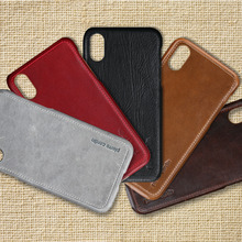 For Apple iPhone X XS Case Pierre Cardin Luxury Ultra Thin Anti-knock Genuine Leather Phone Hard Back Cover Free Shipping