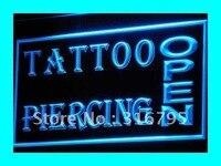 I213 ABERTO Tattoo Piercing Loja NEW Neon LEVOU Sinais de Luz On/Off Switch 20 + Cores 5 Tamanhos