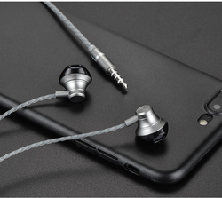 HOCO 범용 금속 이어폰 이어폰 케이블 마일 3.5 미리메터 컨트롤러 유선 헤드셋 애플 아이폰 삼성 샤오