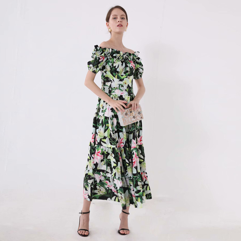 Long Dress Runway Plus Size High Quality 2019 Summer New Women Fashion Party Sexy Boho Beach