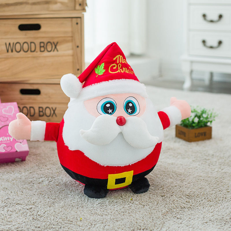 <font><b>20</b></font>/30cm 2 Sizes Cute Lovely Santa Claus Plush Dolls Stuffed Toys Christmas <font><b>Day</b></font> Presents PP Cotton Plush Toy Adorable Doll image