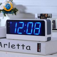 LED Digital Electronic Big Screen Alarm Clock Student Children Snooze Old Man Seat Bell Mute Luminous Bedside Clock