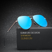 SUNRUN New Classic Luxury Pilot Sunglasses Men Brand Designer Fashion Aviator Driving Gradient Sun Glasses Oculos Gafas TB-115