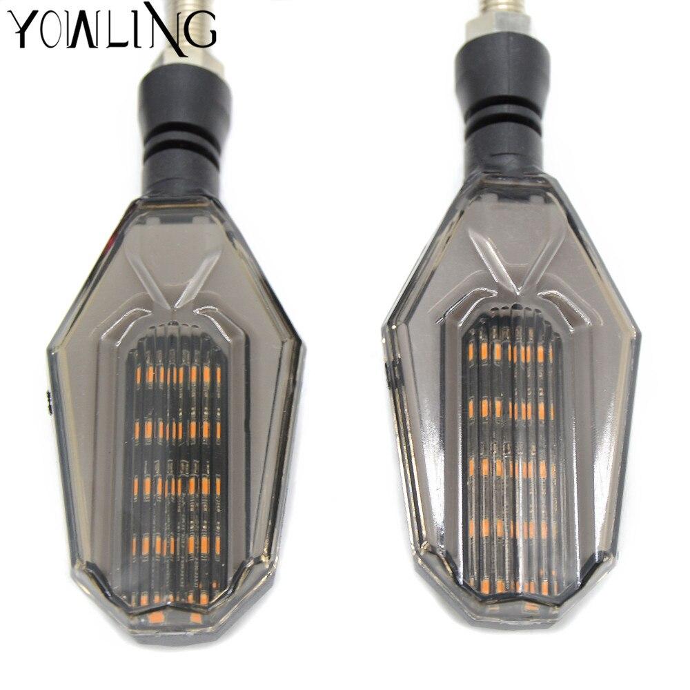 Universal Motorcycle Lamp Super Bright Amber LED turn signal Lights 12V Indicators Flashers For bobber yamaha suzuki honda