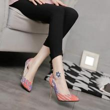 Koovan Women Pumps  2017 Spring Autumn New Fashion Straw Woven Women's Shoes  With High-heeled Nightclub Single Shoes 9cm