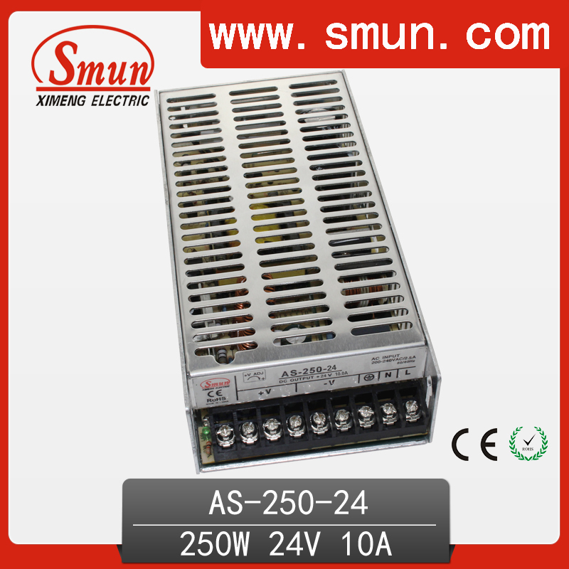 250W 24V 10A mini size single output switching power supply with CE ROHS 2 year warranty 125a 220v 2p e industrial male plug 3pins with ce rohs 1 year warranty