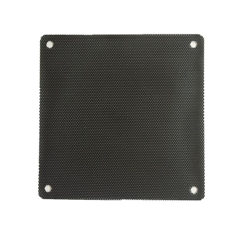 80mm High Quality Anodized Aluminum Computer PC Fan Filter Dustproof Black