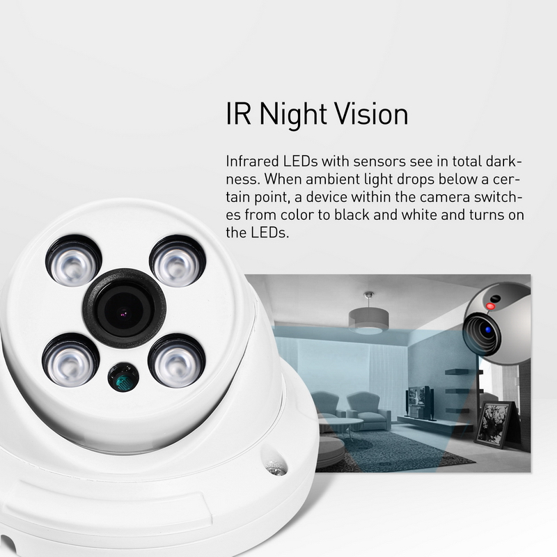 Image 4 - H.265 Waterproof 3MP Array LED IR Dome IP Camera 1296P / 1080P Outdoor Security CCTV Cam Video Surveillance HD System-in Surveillance Cameras from Security & Protection