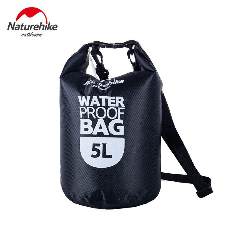 Naturehike 5L Waterproof Rafting Bag 3 Colors Ultralight Outdoor Nylon Drifting Kayaking Storage Swimming Dry Bag