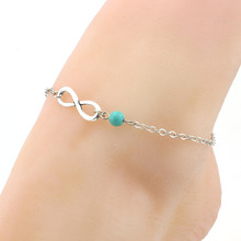 Vintage gold silver plated metal chain ankle bracelet fashion anklets women foot fine jewelry